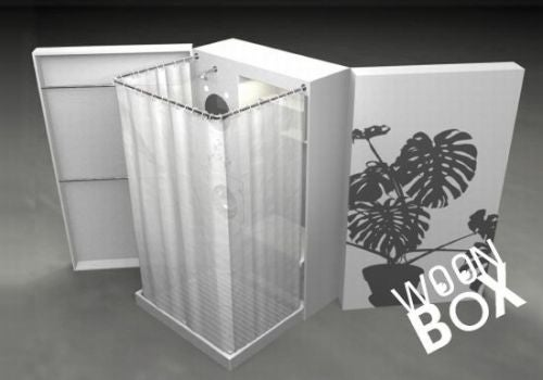 Woon Box: A Toilet, Shower and Kitchen All-in-One
