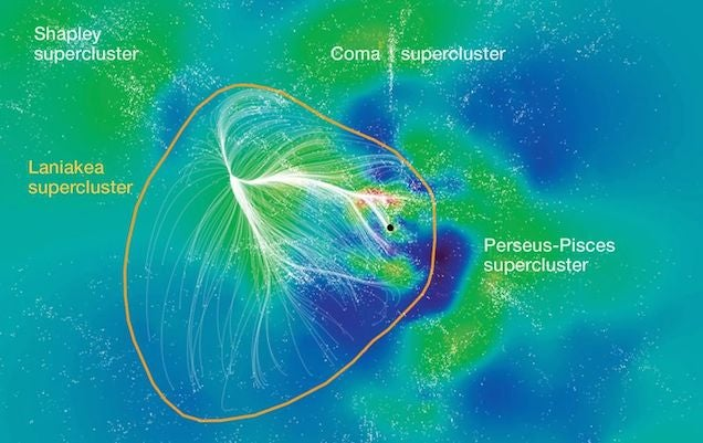 Este mapa muestra dónde se ubica la Vía Láctea entre 100.000 galaxias