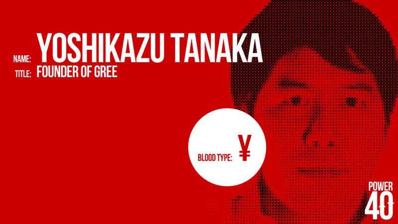 ↓ 36. Yoshikazu Tanaka, Founder of Gree