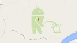 Android se mea en Apple (literalmente) en Google Maps - actualizado