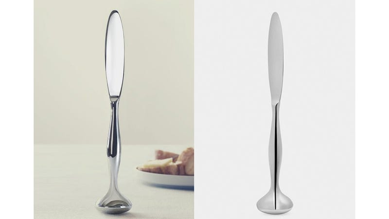 Self-Standing Butter Knife Keeps Condiments Off the Table