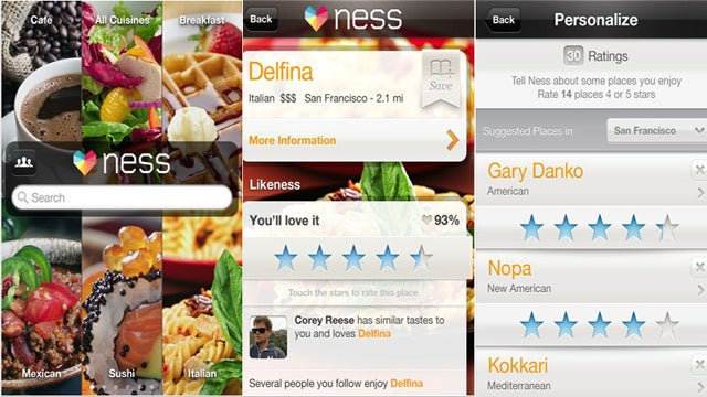 Ness For Restaurants Is a Mobile Search App Based on Your Preferences