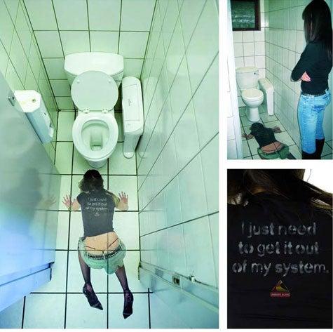 Bathroom Ads Warn Against The Dangers Of Drunk Sluts