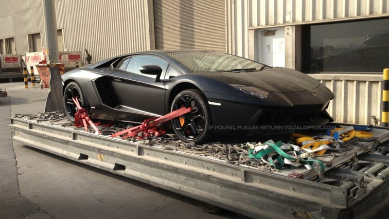 This Is How You Pack A Lamborghini Aventador Into A Plane