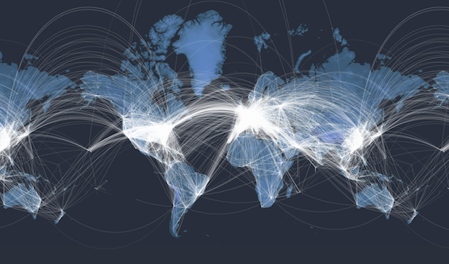 An interactive map of every plane in the air right now