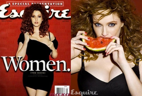 Christina Hendricks Doesn't Quite Look Like Herself On Esquire Cover