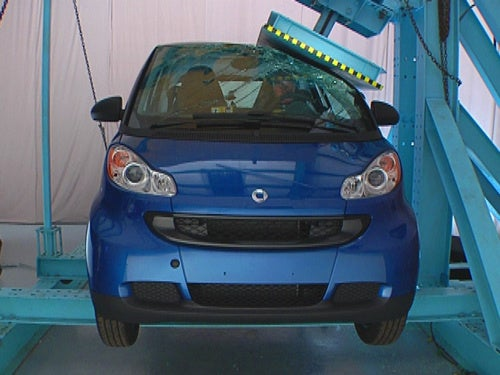 "IIHS: Only Smart Fortwo Gets ""Good"" Roof Strength Rating"