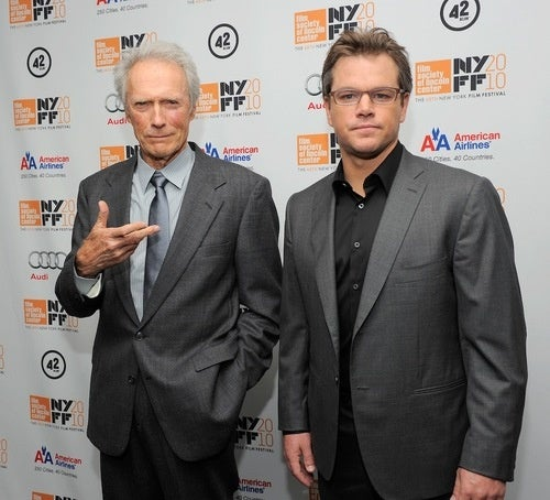 Matt Damon and Clint Eastwood Can't Believe You Dragged Them Out of Bed for This