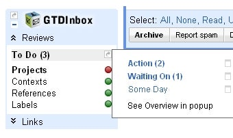 GTDInbox Turns Emails into Tasks and Projects