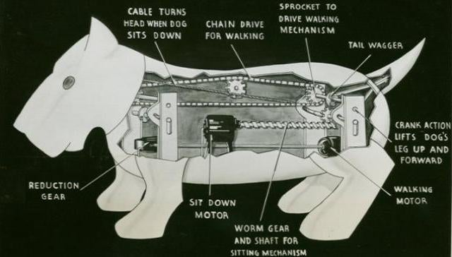 In 1939, a robot dog was killed while chasing a car. Really.