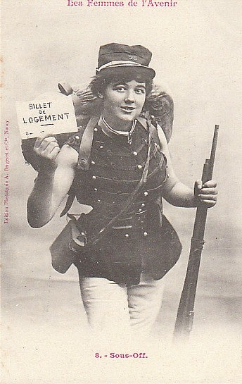 """""""The Women of The Future,"""" according to 1902 French trading cards"""