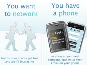 Dropcard Sends Business Cards via SMS