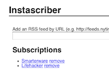 Instascriber Automatically Adds Articles to Instapaper from RSS Feeds