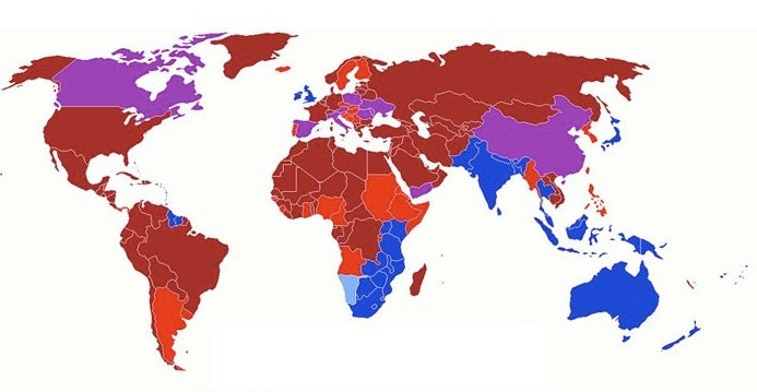 Atlas Of Right-Hand Drive Vs. Left-Hand Drive Countries