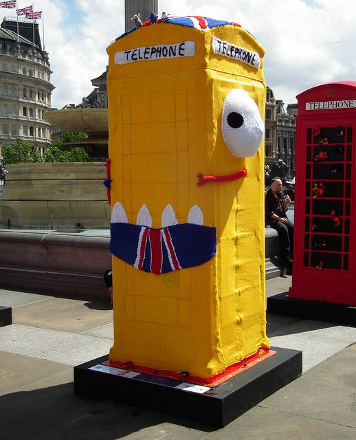 Artsy alternate universe TARDISes decorated with leopard spots and disguised as Big Ben