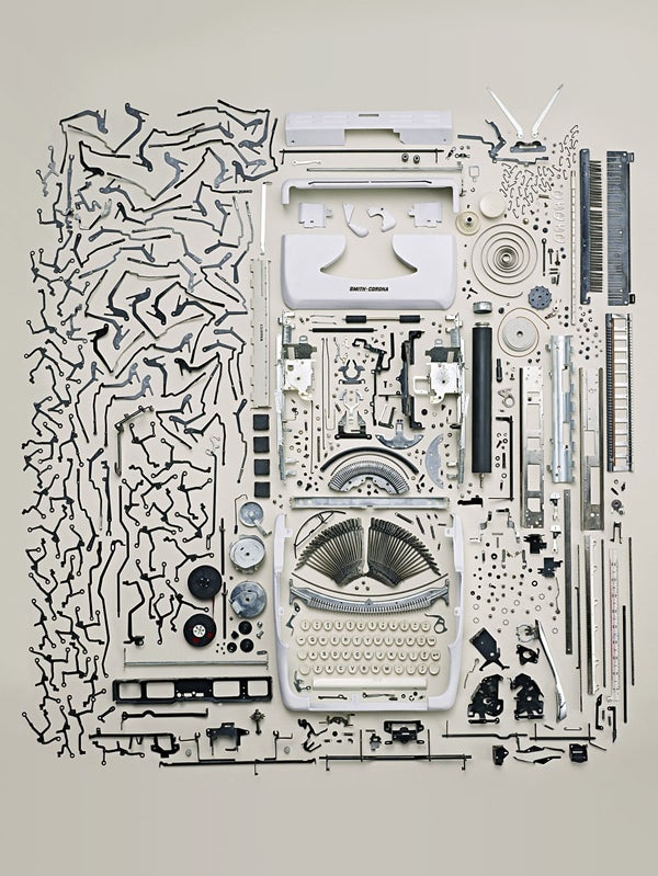It's Amazing How Many Parts and Pieces Are Inside a Typewriter