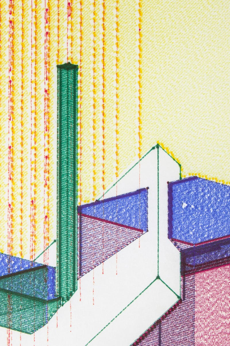 These Mutant Buildings Were Generated By Code and Drawn By a Machine