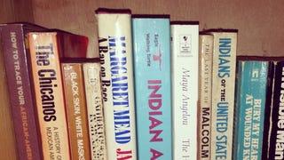 Just part of my parents' intense bookshelf