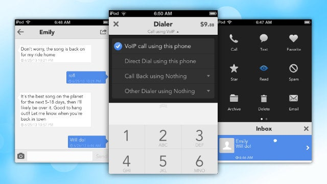 GV Mobile + Gets Google Voice VOIP Calling and a Brand New Interface