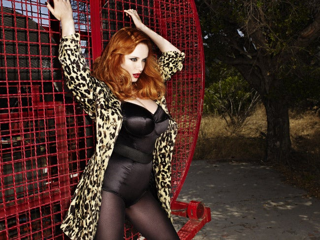 Christina Hendricks Has Animal Magnetism In Pin-Up-Style Shoot