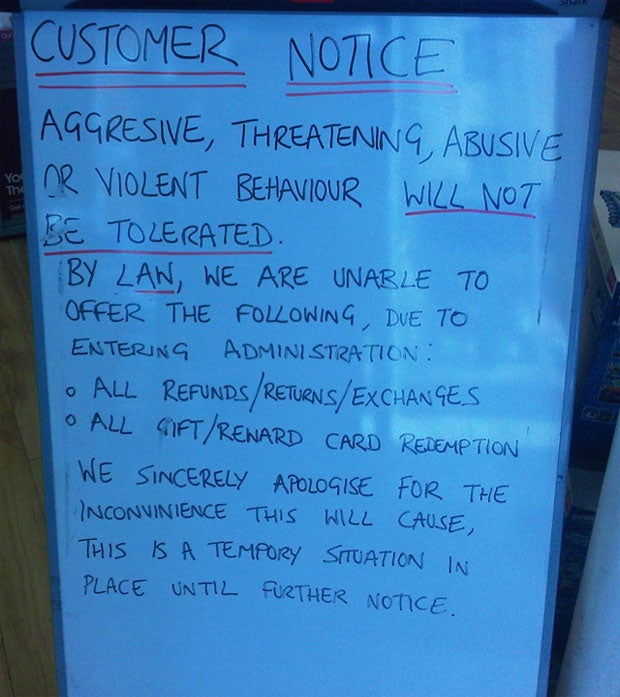 GAME Stores Stop Refunds, One Asks Customers Not to be Violent
