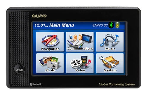 Sanyo Easy Streetnav NVM-4070 GPS Nav Does Media Play in Traffic