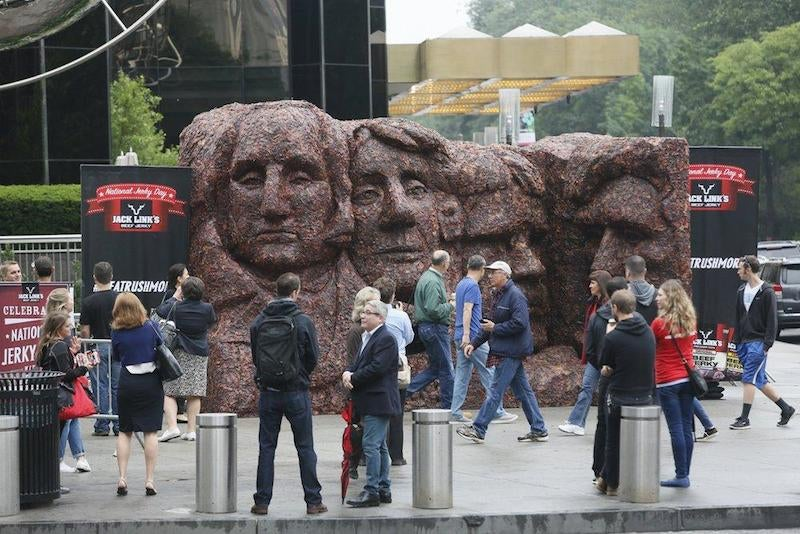 Here's the world's most disgusting sculpture...Meat Rushmore