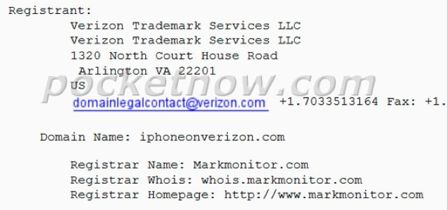 Verizon Purportedly Snatching Up iPhone Domains