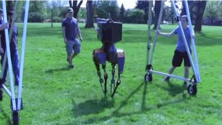 Watch The ATRIAS Bipedal Robot Take A Stroll In The Park