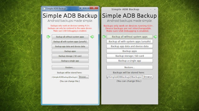 Simple ADB Backup Backs Up Your Android Phone from the Desktop, No Root Required