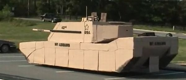 Full-Size Cardboard Tank Is Perfect For Invading Ikea