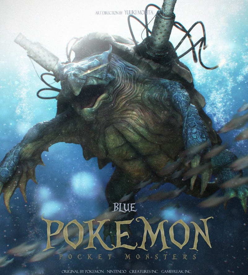 Pokémon As Fearsome Kaiju