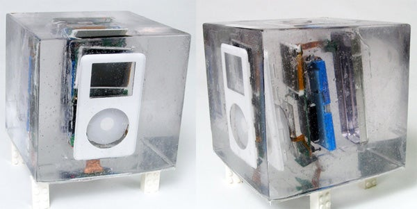 iPod is Blown Up, Encased in Resin, and Still Works