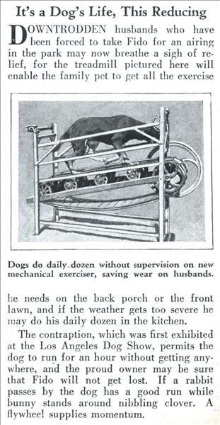 Retromodo: Doggy Treadmill Idea is Actually From 1930