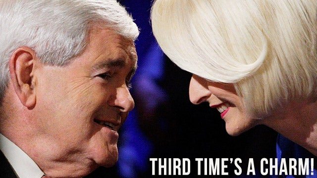 Serial Wife-Leaver Newt Gingrich Vows to Defend Marriage