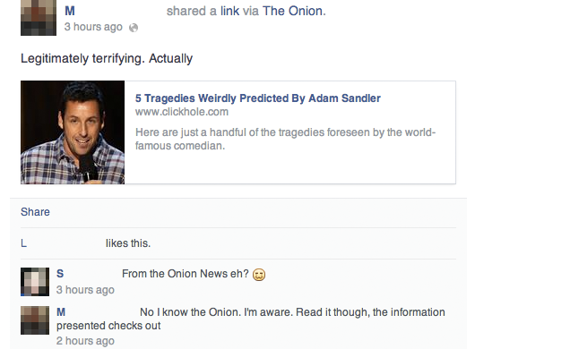 Neo-Nazis Fall for The Onion's Psychic Adam Sandler Story