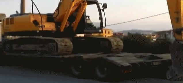 Driver Invents New Excavator-Powered Truck