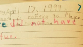 ​Found my journal dating back to kindergarten