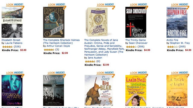 Get One of Fifty Kindle Ebooks for Just $1
