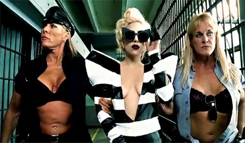 Lady Gaga's New Music Video Tackles Penis Rumor, Lesbian Prison Babes
