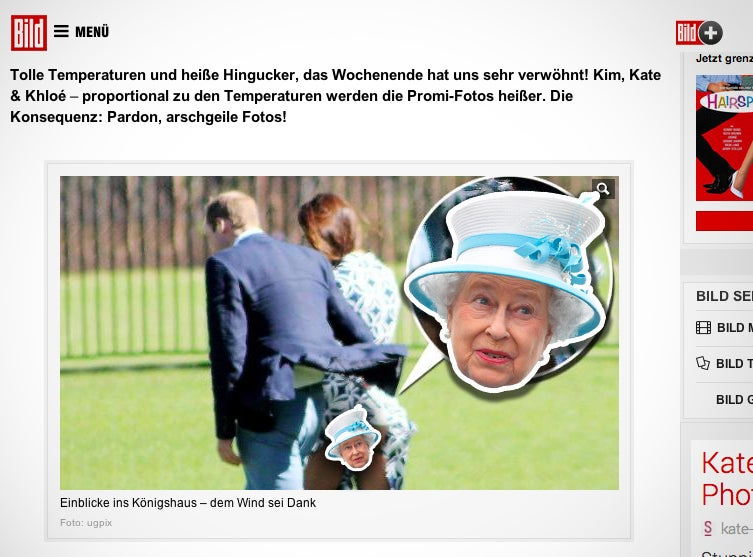 German Tabloid Risks WW3 by Publishing Kate Middleton Butt Photo
