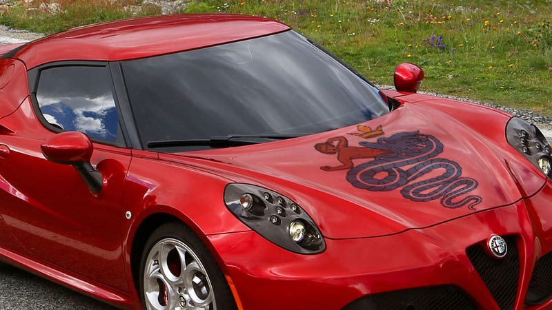 Is That Really A Snake Eating A Guy On The Alfa Logo?