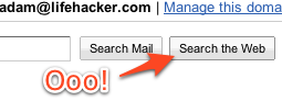 Gmail Brings Back Search the Web Button