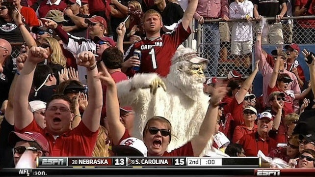 Yes, The Yeti Is Real, And It's A Fan Of The South Carolina Gamecocks