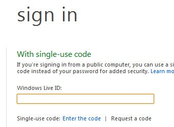 Use a Single-Use Code to Securely Sign into Windows Live