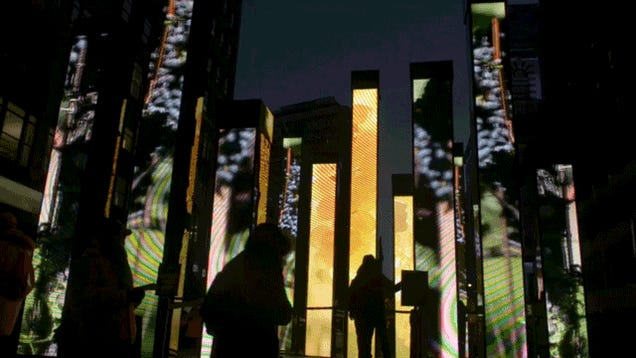 A Walk Though NYC's Insane Super Bowl Boulevard