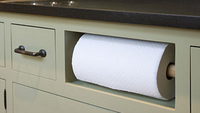 Replace a Fake Kitchen Drawer with a Paper Towel Cubby