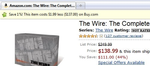 Invisible Hand Subtly Shows Best Web Prices
