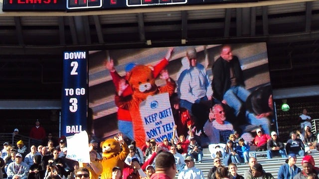"""Pedobear"" Showed Up At The Houston-Penn State Game Today"