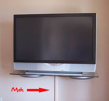how do you hide the cords from your wall mounted tv. Black Bedroom Furniture Sets. Home Design Ideas